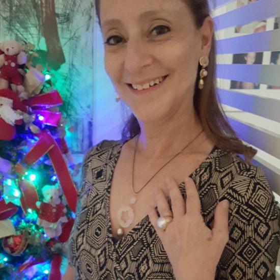 Ana Botafogo com joias Francisca Bastos