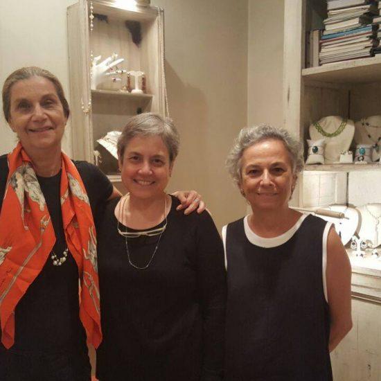 Marisa Garcia de Souza e Camila Pereira Pinho no Lançamento da Coleção Esperança