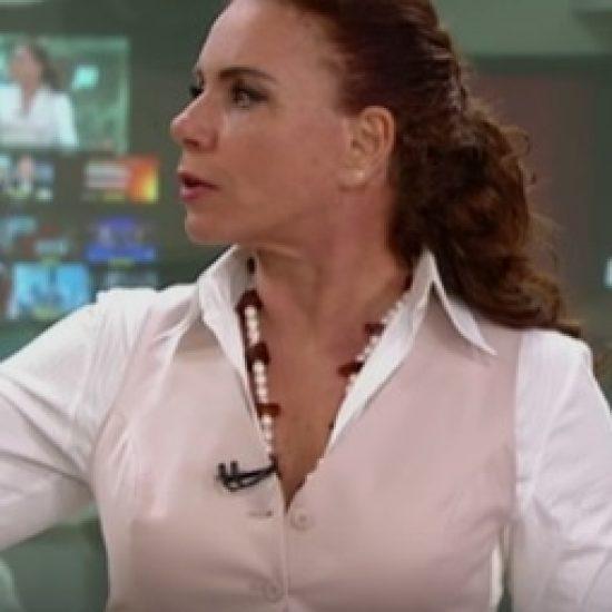 Leilane Neubarth com Colar Francisca Bastos Design no Jornal das dez (Globo News)